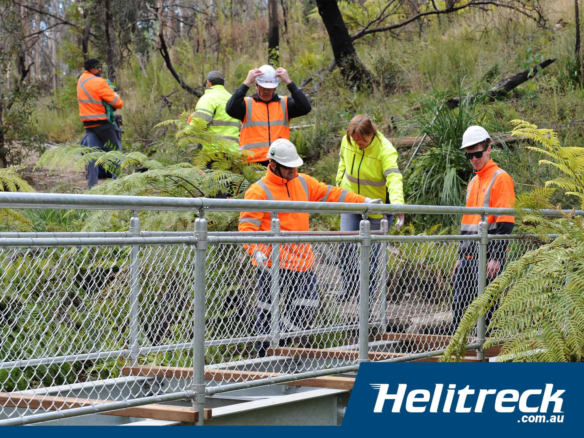 popes glen footbridge upgrade helitreck