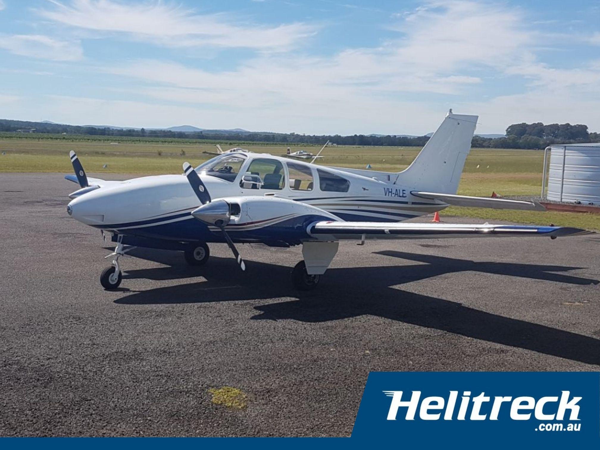 Helitreck-Beechcraft-Baron-D55-VH-ALE