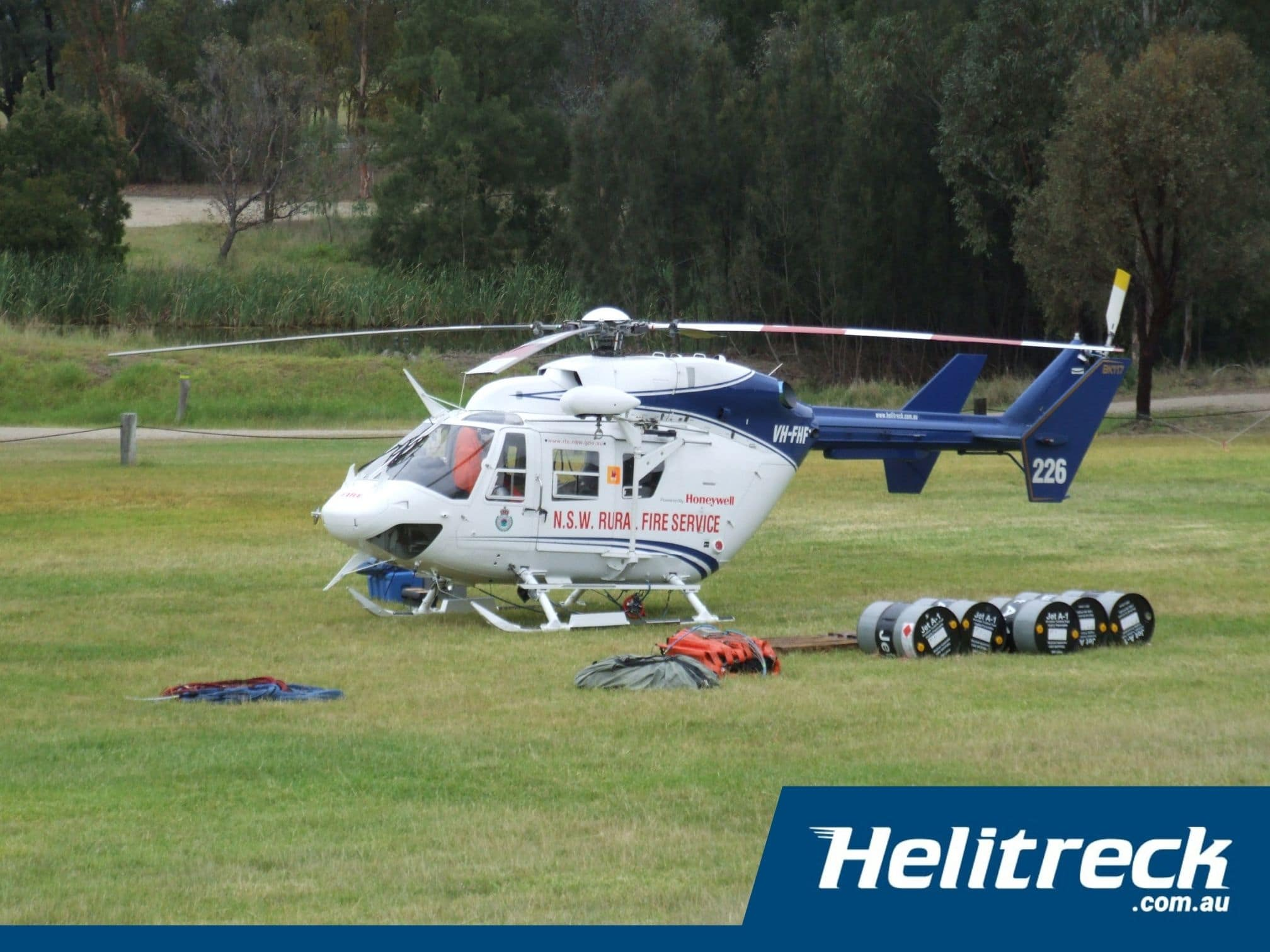 Helicopter-BK117-B2-VH-FHF