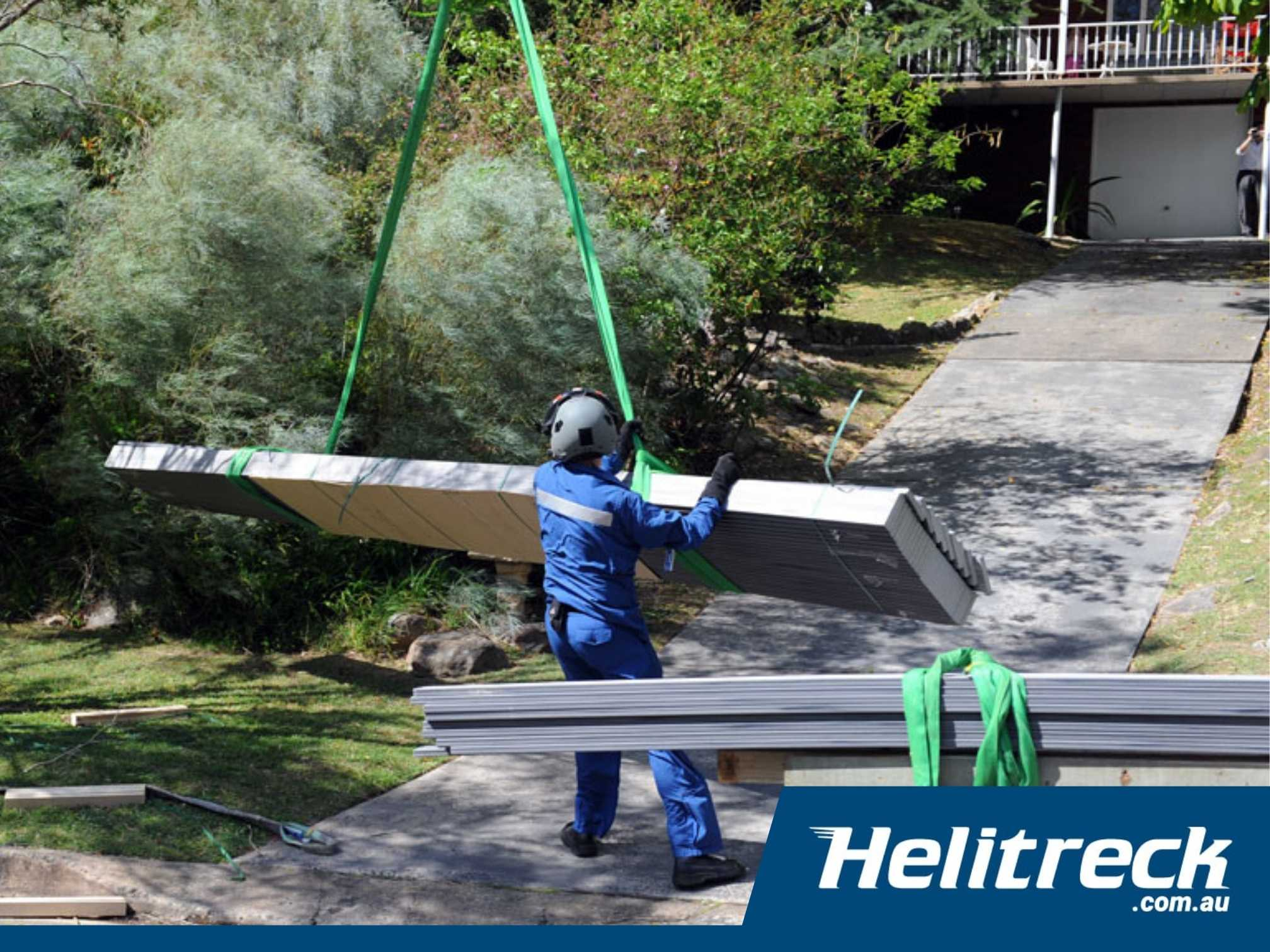 Helicopter Crane Lifting Building Materials