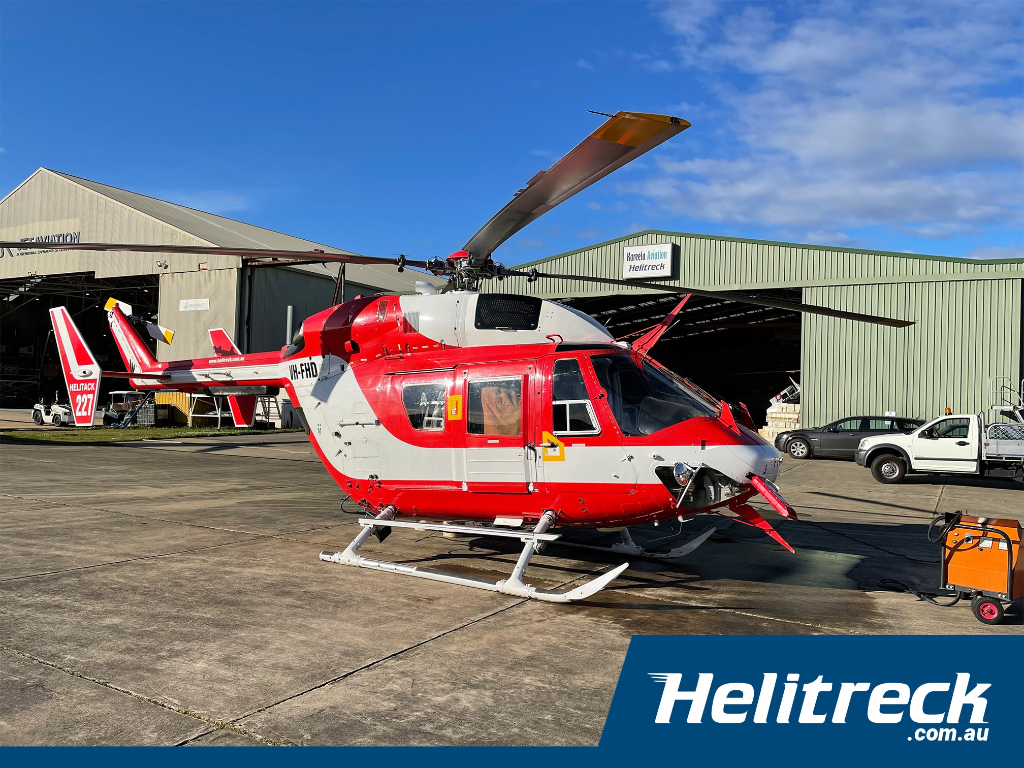 fiddletown bushfire support helitreck helicopters